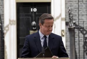 Cameron: apelo para que britânicos votem pela permanência na UE Foto: Matt Dunham / AP