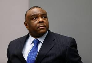 Jean-Pierre Bemba é julgado no Tribunal Penal Internacional (TPI) Foto: MICHAEL KOOREN / REUTERS