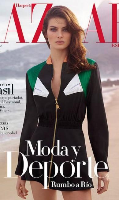 """Isabeli na capa da """"Harper's Bazaar"""" espanhola. Os cliques do ensaio no Rio são de Thomas Whiteside Reprodução/ Instagram"""