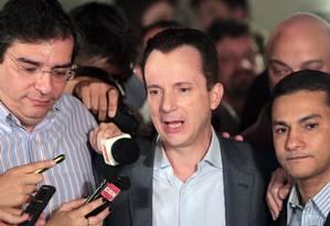 Celso Russomanno na campanha de 2012 Foto: Eliaria Andrade / Agência O Globo