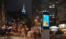 Totens instalados em Nova York neste verão Foto: Divulgação