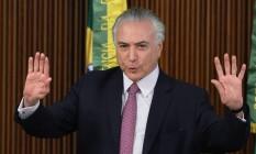 O presidente interino, Michel Temer Foto: Jorge William / Agência O Globo