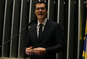 O procurador da República Deltan Dallagnol durante sua exposição no plenário da Câmara Foto: Ailton de Freitas / O Globo