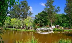 Lago. Pescaria e passeio de pedalinho no hotel Foto: DIVULGAÇÃO
