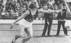 A francesa Micheline Ostermeyer foi um dos destaques olímpicos em Londres, em 1948 Foto: Acervo