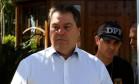 O ex-senador Gim Argello, ao ser preso em abril Foto: Ailton de Freitas / Agência O Globo / 12-4-2016