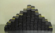 Barras de heroína apreendidas pela polícia americana no Texas Foto: Arquivo / Reuters