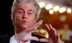 Líder da extrema-direita holandesa, Geert Wilders elogiou decisão britânica de deixar a UE Foto: LASZLO BALOGH / REUTERS