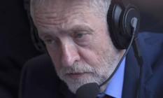 Líder do Partido Trabalhista, Jeremy Corbyn dá entrevista após derrota no referendo que decidiu em favor do Brexit Foto: TOBY MELVILLE / REUTERS