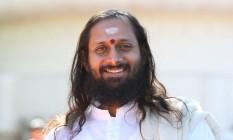 Sem estresse. Swami Paramtej define meditação como a arte de não fazer nada e controlar a mente Foto: Divulgação