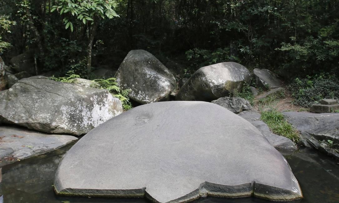 Poço localizado no Núcleo Pau da Fome Foto: Reginaldo Pimenta / Agência O Globo