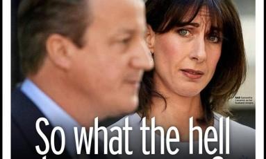 Capa do 'Mirror': 'O que diabos acontece agora?' Foto: Reprodução