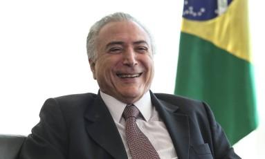 O presidente Interino Michel Temer Foto: Andre Coelho / Agência O Globo / 24-6-2016