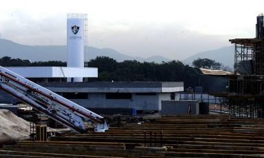 Obras em andamento do CT do Fluminense, na Barra da Tijuca Foto: Nelson Perez / Nelson Perez/Fluminense