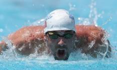 Michael Phelps em ação no Arizona, em 2014 Foto: Christian Petersen / AFP