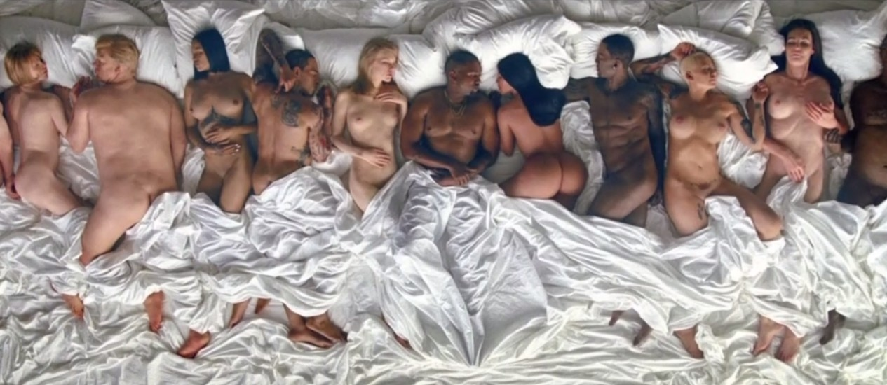 Cena do clipe de 'Famous', de Kanye West Foto: Reprodução