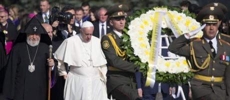 Papa Francisco visita a Armênia Foto: Alexander Zemlianichenko / AP