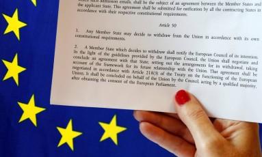 O que é o artigo 50 do Tratado de Lisboa? Foto: FRANCOIS LENOIR / REUTERS