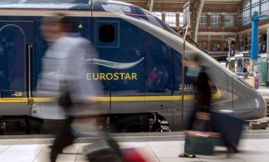 A partir de abril, a Eurostar terá viagens diárias entre Londres e Amsterdã Foto: PHILIPPE HUGUEN / AFP