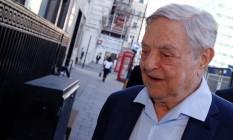O megainvestidor George Soros Foto: LUKE MACGREGOR / REUTERS/20-6-2016