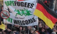 Ato contra refugiados na Alemanha: a questão é uma das usadas por partidos nacionalistas Foto: Juergen Schwarz / AP