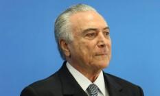O presidente interino Michel Temer Foto: André Coelho/23-6-2016 / Agência O Globo