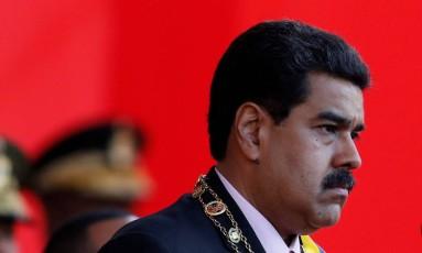 Presidente venezuelano Nicolás Maduro participa de parada militar Foto: MARCO BELLO / REUTERS