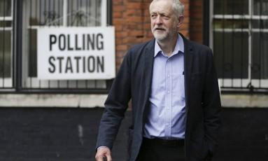 Jeremy Corbyn apoiava permanência do Reino Unido na UE Foto: Daniel Leal Olivas / AP
