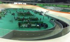 Velódromo custou R$ 147 milhões e deveria estar pronto há seis meses Foto: Carolina Oliveira Castro