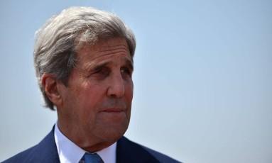 Secretário de Estado dos Estados Unidos, John Kerry Foto: Gabriel Bouys / AFP
