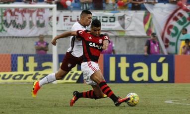 Jogo entre Flamengo e Fluminense na Arena das Dunas, em Recife Foto: NELSON PEREZ/FLUMINENSE F.C.