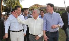 O presidente interino, Michel Temer, no evento Foto: Divulgação