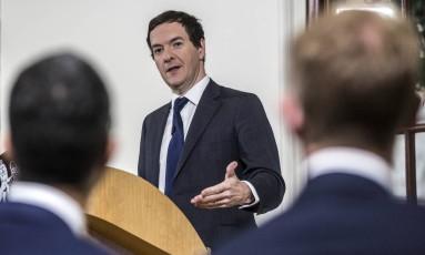 Ministro britânico das Finanças, George Osborne Foto: Richard Pohle / AP