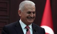 Primeiro-ministro turco, Binali Yildirim, anuncia detalhes de acordo para reaproximação diplomática com Israel Foto: Burhan Ozbilici / AP