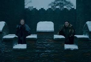 Sansa Stark eJon Snow em Winterfell Foto: Reprodução
