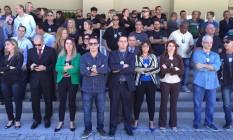 Delegados cruzaram os braços nesta segunda-feira Foto: Divulgação