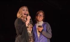 Adele e Maria no palco do Glastonbury Foto: Reprodução