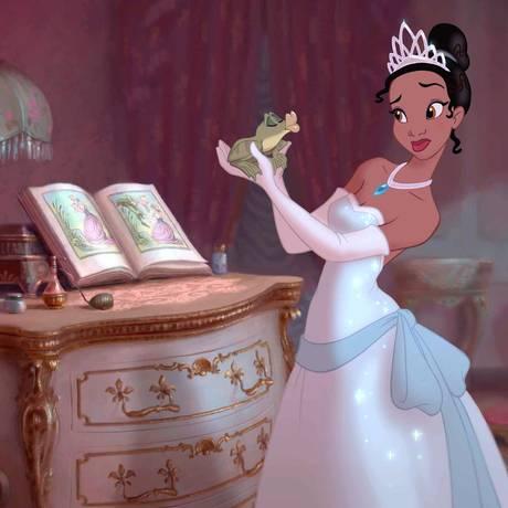 """Princesa Tiana, no filme """"A princesa e o sapo"""" (2009) Foto: Divulgação"""