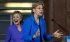 Hillary mostra surpresa com fala de Elizabeth Warren Foto: John Sommers II / AFP
