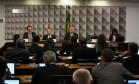 Sessão da comissão do impeachment no Senado nesta segunda-feira Foto: Ailton de Freitas / Agência O Globo / 27-6-2016