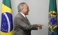 O presidente interino Michel Temer Foto: Givaldo Barbosa / Agência O Globo / 27-6-2016