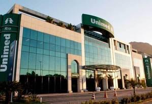 Sede da Unimed-Rio, na Barra da Tijuca: empresa passa por reestruturação Foto: Divulgação