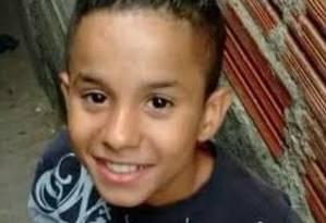 Menino de 11 anos morto em SP Foto: Reprodução