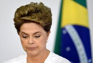 A presidente afastada Dilma Rousseff Foto: Evaristo Sá / AFP /