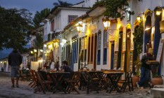 Movimento em hotéis e restaurantes em Paraty ainda é baixo, na véspera da Flip Foto: Alexandre Cassiano / O Globo