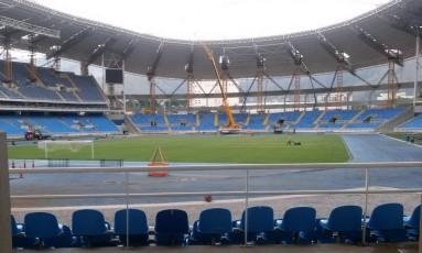 Estádio do Engenhão Foto: Marcos Tristão / Agência O Globo