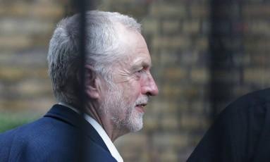Líder do Partido Trabalhista britânico, Jeremy Corbyn fez campanha pela permanência do Reino Unido na UE Foto: DANIEL LEAL-OLIVAS / AFP
