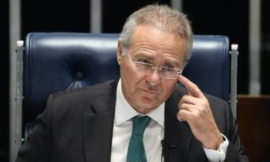 O presidente do Senado, Renan Calheiros (PMDB-AL) Foto: André Coelho / Agência O Globo / 21-6-2016