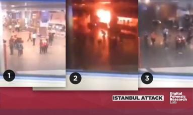 Quadros de imagens mostram desespero após explosão Foto: Reprodução