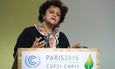 Izabella Monica Vieira Teixeira, ex-ministra do Meio Ambiente. Foto: Miguel Medina / AFP